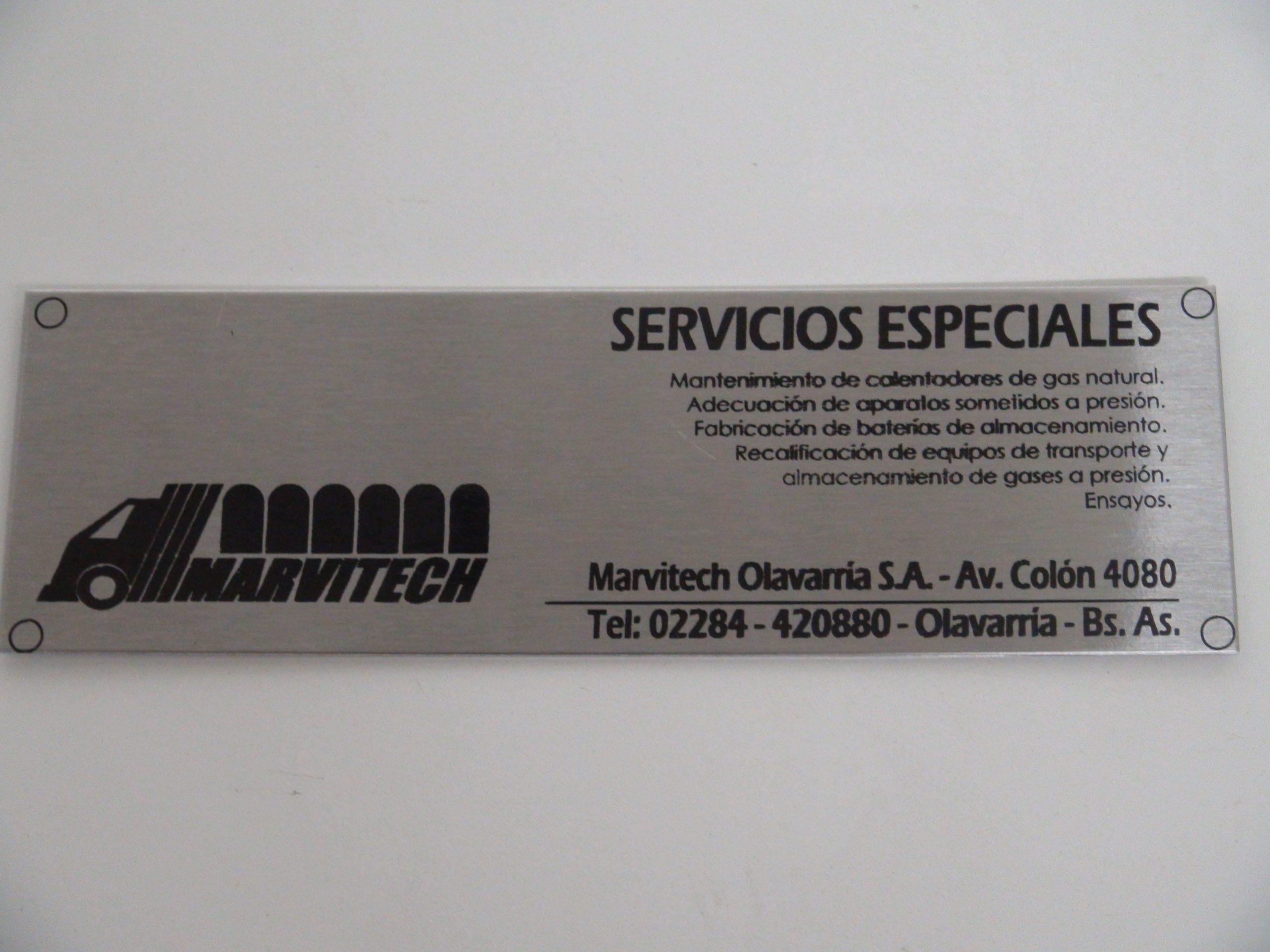 Grabado sobre acero inoxidable 304 - 1 mm
