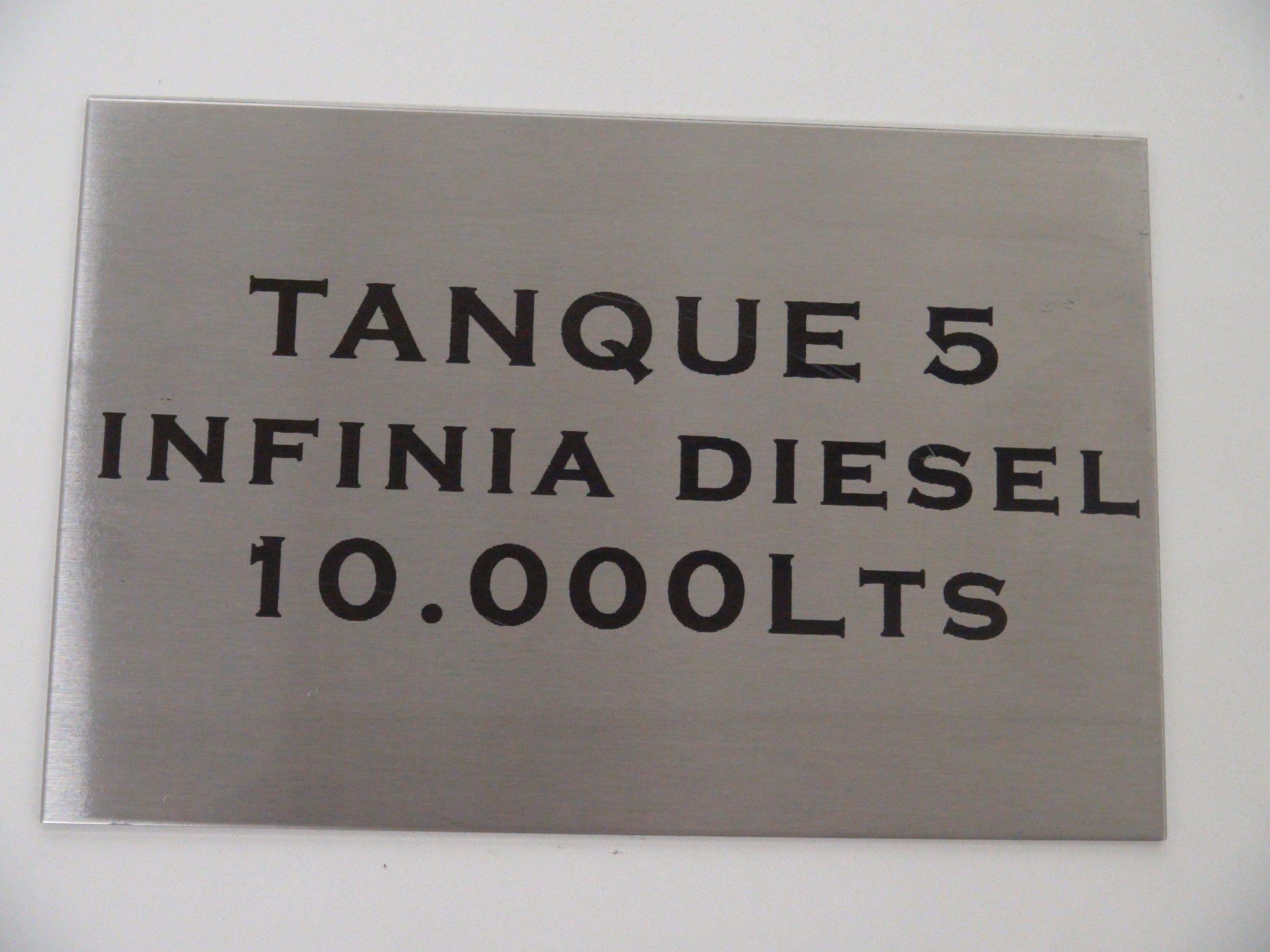 Grabado sobre acero inoxidable 304 - 0,8 mm